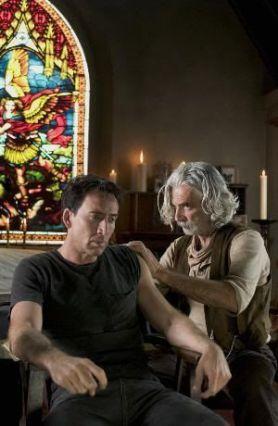 Nicolas Cage y Sam Elliot en El Motorista Fantasma