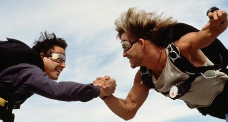"Keanu Reeves y Patrick Swayze en ""Le Llaman Bodhi"" (""Point Break"", 1991)"