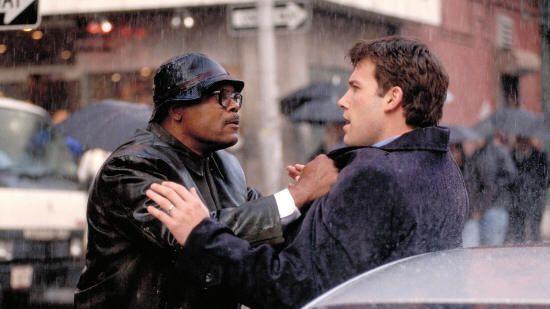 """Samuel L. Jackson y Ben Aflfleck en """"Al Límite de la Verdad"""" (""""Changing Lanes"""", 2002)"""