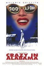 """Cartel de """"Locos en Alabama"""" (""""Crazy in Alabama"""", 1999)"""