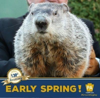 La marmota Phil predice la primavera. 2 de febrero de 2016