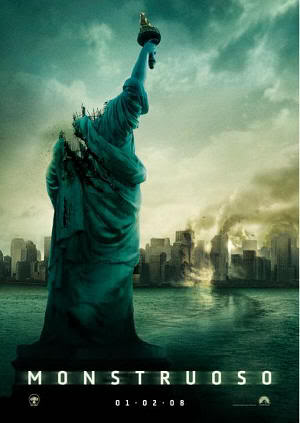 "Cartel de ""Monstruoso"" (Cloverfield, 2008)"