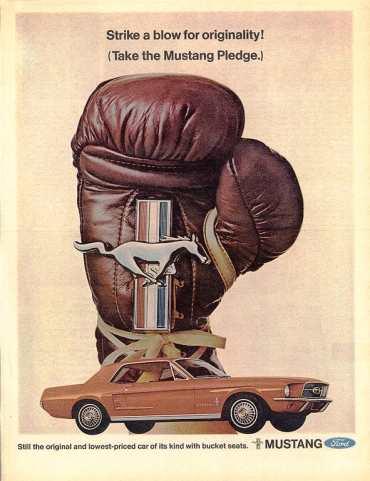 Anuncio del Mustang modelo 1967