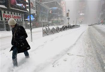 Temporal de nieve en Nueva York