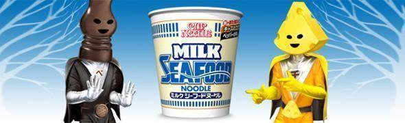 Nissin Cup Noodles Milk Seafood Japón