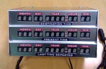 Copia del panel de control de la máquina del tiempo del DeLorean vendida por Ebay