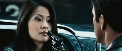 "Lucy Liu y Mel Gibson en ""Payback""(1999)"