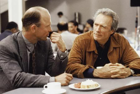 "Ed Harris y Clint Eastwood en ""Poder Absoluto"" (""Absolute Power"", 1997)."