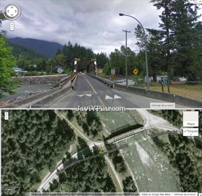 Imágenes del puente de Rambo en Googlemaps