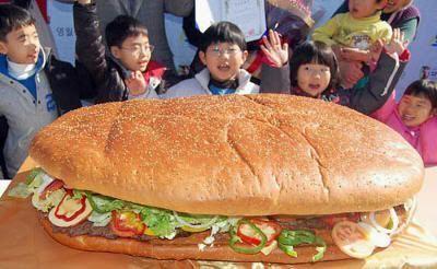 Hamburguesa gigante en Japón