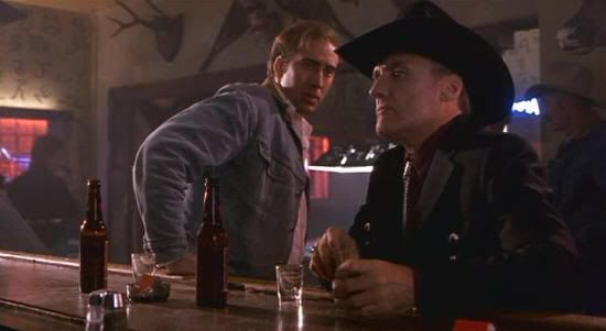 "Nicolas Cage y Dennis Hopper en ""Red Rock West"" (John Dahl, 1993)"