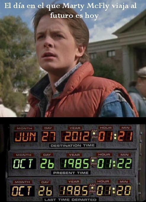 Falso mensaje en las redes sociales sobre la fecha de llegada de Marty McFly al futuro