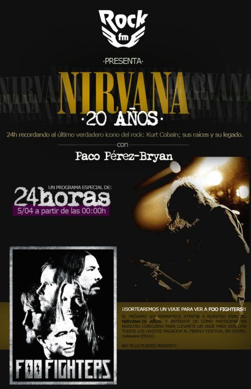 RockFm anuncia una maratón de 24 horas de radio en homenaje a Kurt Cobain