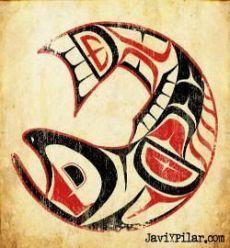 El salmón. Mitología del noroeste de los Estados Unidos.