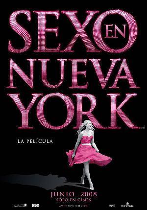 """Cartel de la versión española de """"Sexo en Nueva York. La Película"""" (""""Sex and the City"""", 2008)"""