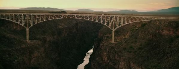 "Rio Grande Gorge Bridge. ""La Señal"" (""The Signal"", 2014)"