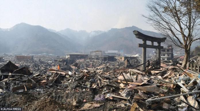 Destrucción total tras el terremoto de Japón del 11 de marzo de 2011.