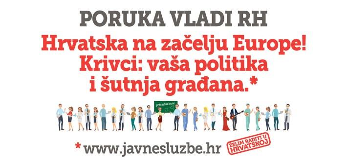 Hrvatska na začelju Europe