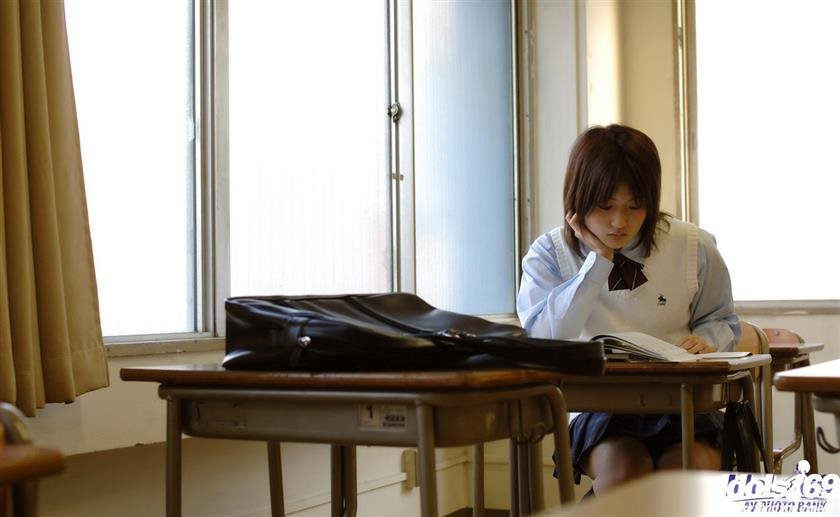 All Japanese Pass - Yuran Is Playing The School Girl babe Part Perfectly As She Shows Her Pussy