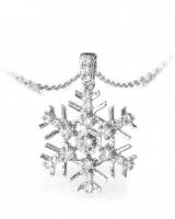 Carat Diamond Snowflake Pendant