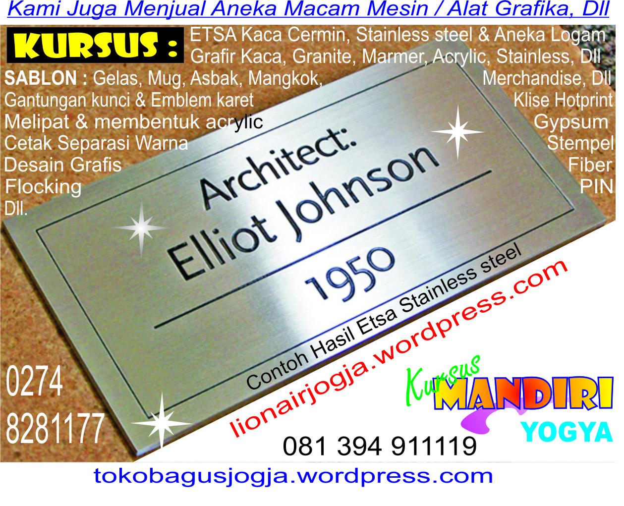 yaitu KURSUS  tokobagusjogjawordpresscom   Cetak Offset Graphic design Screen printing
