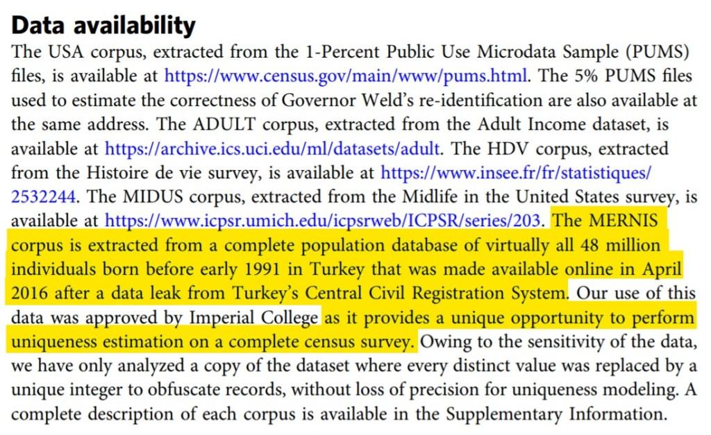 wyciek danych Turków