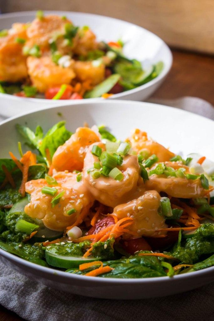 Bang Bang Shrimp Salad