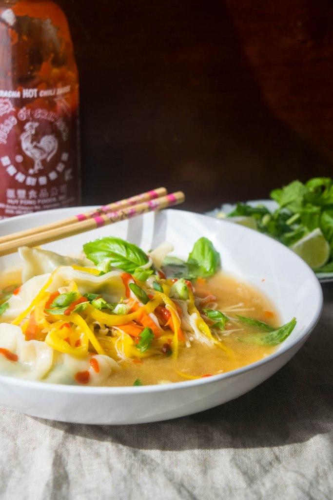 vegan dumpling soup