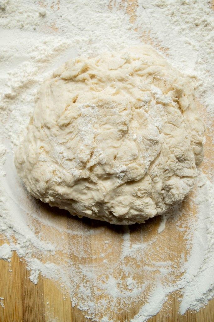 pizza dough pre-knead