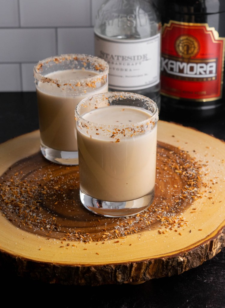 toasted coconut white russian cocktail