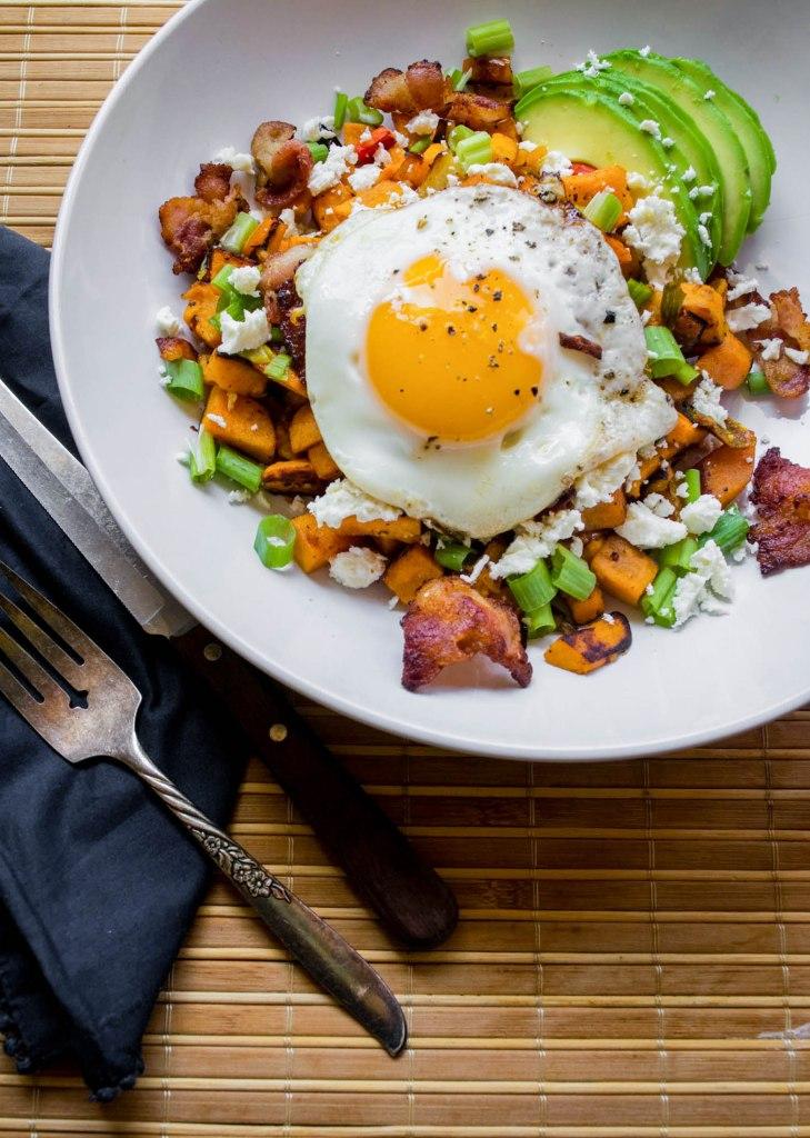 Sweet Potato Breakfast Hash with Bacon