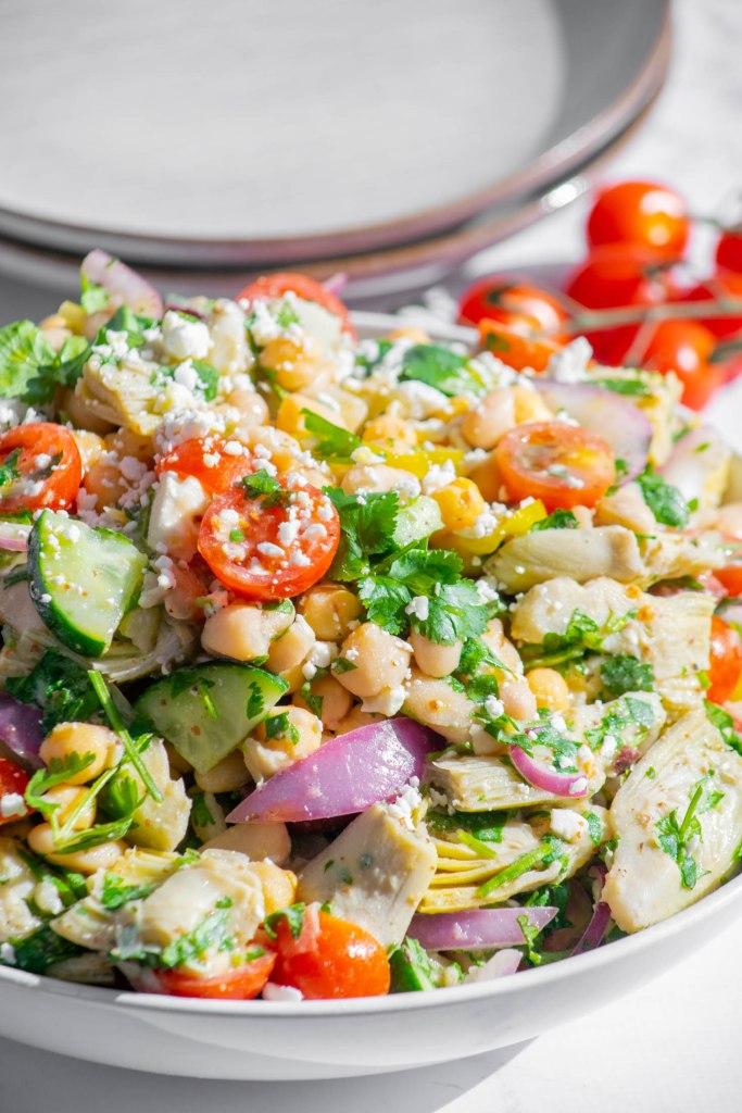 closeup bean salad