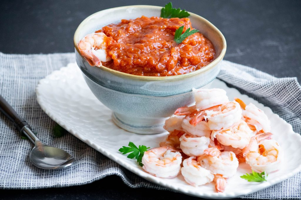 Kimchi Shrimp Cocktail