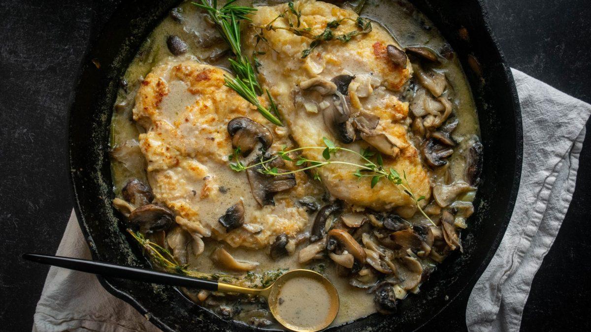 Creamy One Pan Maitake Mushroom Chicken