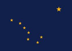Alaska state flag. Universities jobs.