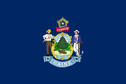 Maine State flag. Maine universities and colleges jobs.