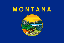 Montana State flag. Universities and colleges jobs.