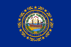 New Hampshire State flag. New Hampshire jobs and work.