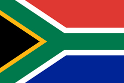 South African flag. Universities