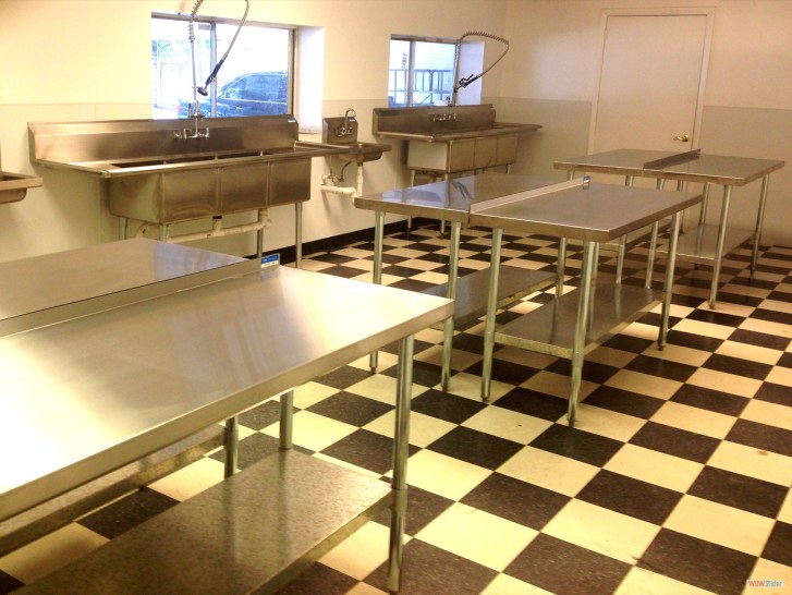 Commercial Food Preparation Commissary Kitchen Hot Dog Carts
