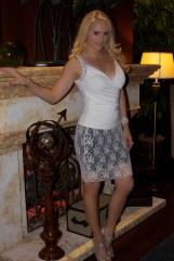 Lace Skirt Blk:Crm