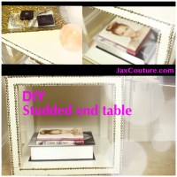 {DIY Chic Style} Home Decor Video: White Studded Side Tables