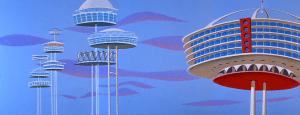 Orbit City, where the Jetsons lived, courtesy The Jetsons Wiki at www.thejetsons.wikia.com.