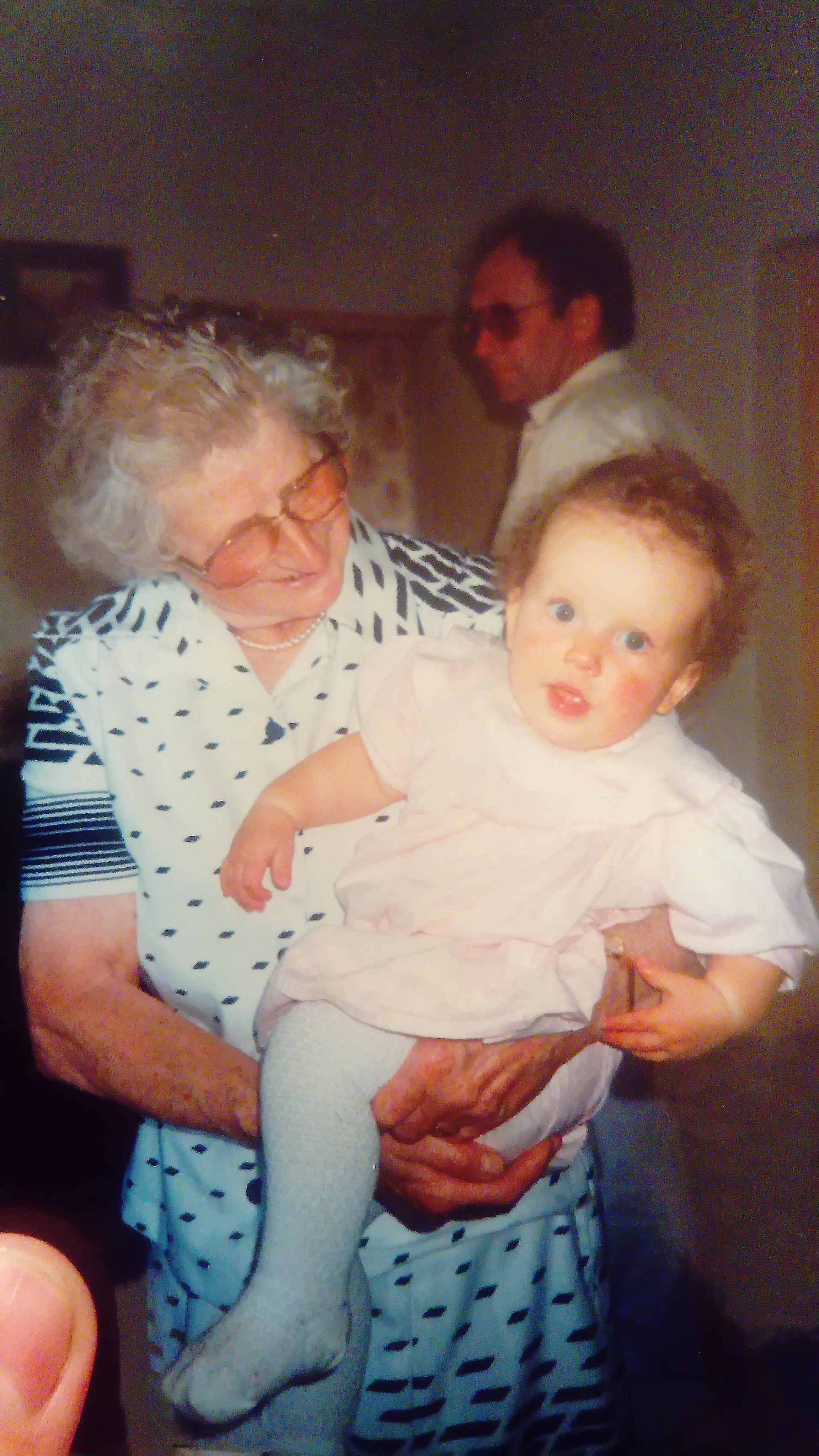 Jax as a baby with her gran