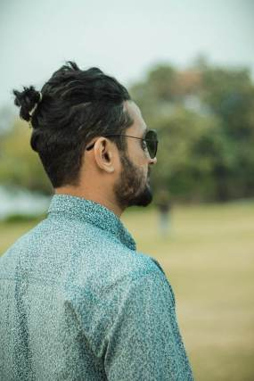 long hairstyle for men ponytail