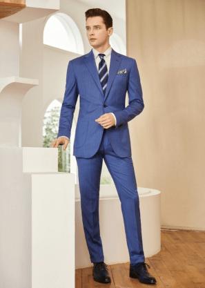 man wearing a royal blue suit for Jaxson Maximus suit color guide