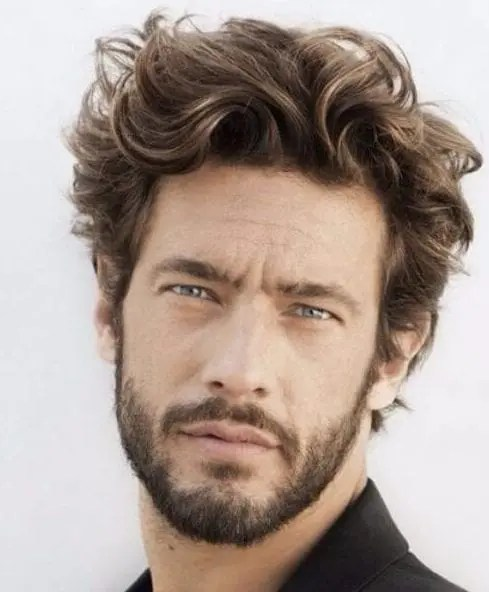 HAIRCUTS FOR MEN WITH CURLY HAIR SHORT BEACH WAVES