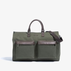 Hook + Albert Olive Twill Garment Weekender Bag