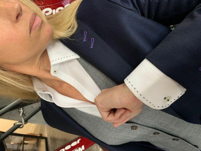 Womens custom made 3 piece suit