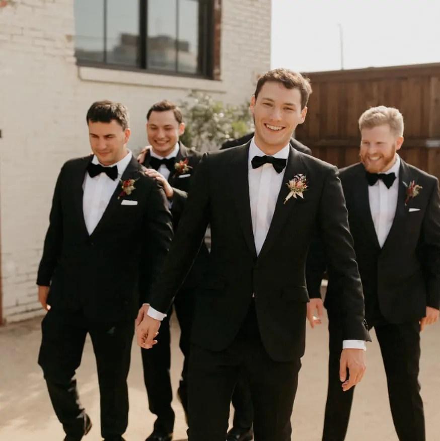 groomsmen wedding tuxedo